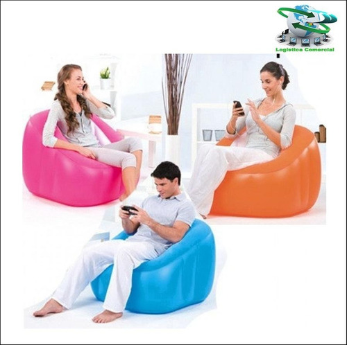 silla sillon puff inflable comfort quest cubo bestway 75046