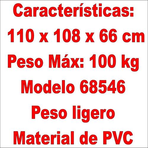 silla sillon puff inflable hogar 68546 intex 100kg maximo