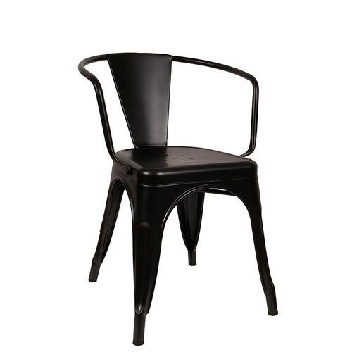silla sillón tolix con apoyabrazos negra envíos caba gba