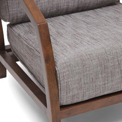 silla sófa baxton studio marco de madera