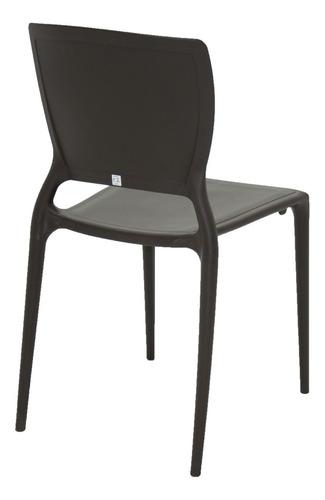 silla sofia marrón tramontina