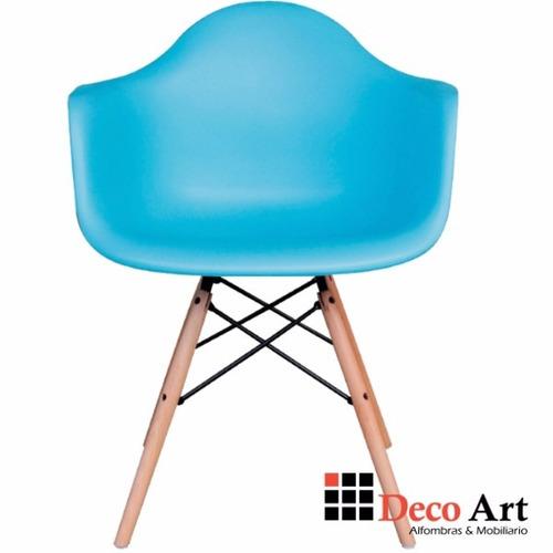 silla taburete eames negro diseño desayunador comedor stock2