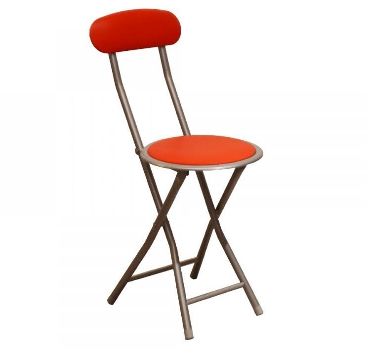 Silla taburete plegable asiento de madera