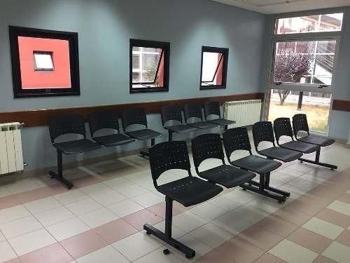 silla tandem 3 asientos salas espera caño plastico reforzado