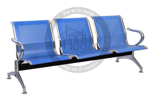 silla tandem 3 puestos para sala de espera + obsequio