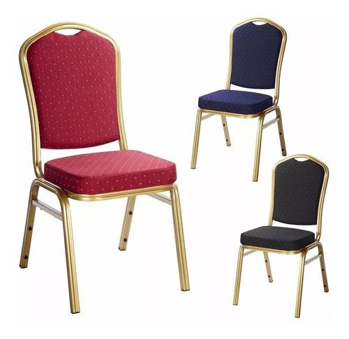 silla tapizada apilable - hotel sala de evento conferencia
