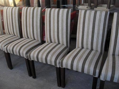 silla tapizada en cuero talampaya con resortes alta gama!!!!