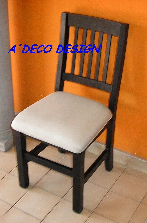 Emejing sillas de madera tapizadas para comedor pictures for Sillas de metal tapizadas