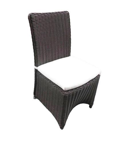 silla tejida rattan sintético para exterior, jardín, terraza