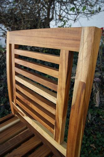 silla tekaat, madera de teka, mobiliario de exterior, diseño