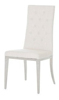 silla tela lino crema këssa muebles
