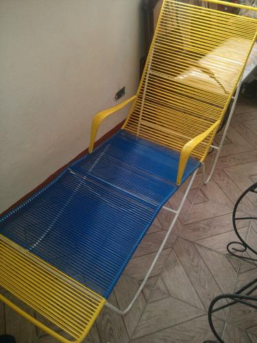 silla tipo extensión playera, piscina o jardin