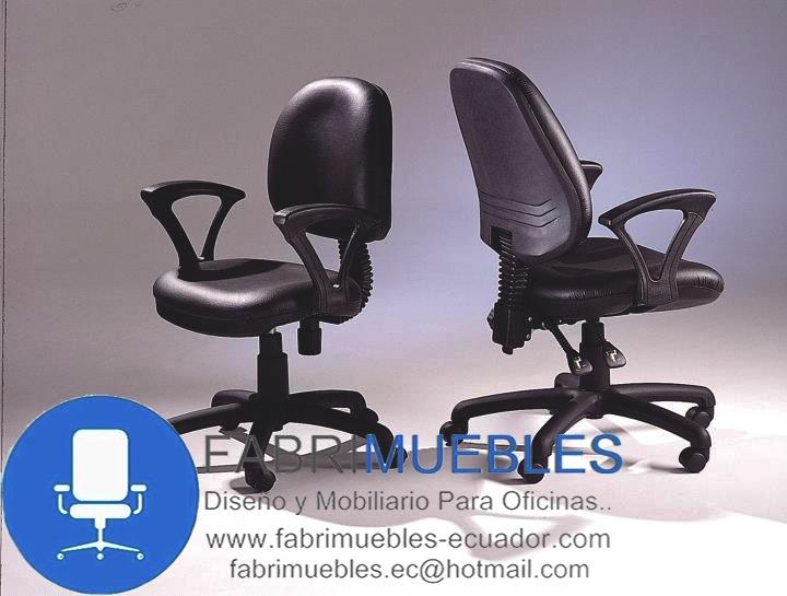 Silla tipo oficina secretaria giratoria mueble de for Tipos de sillas de oficina