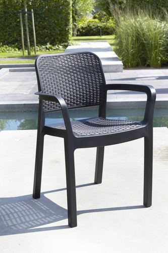 silla tipo rattan samanna de allibert exterior jardin oferta