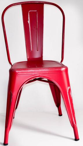 silla tolix acero vintage comedor casa hogar  2 pzs