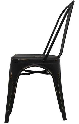 silla tolix acero vintage comedor casa hogar 4 pzs