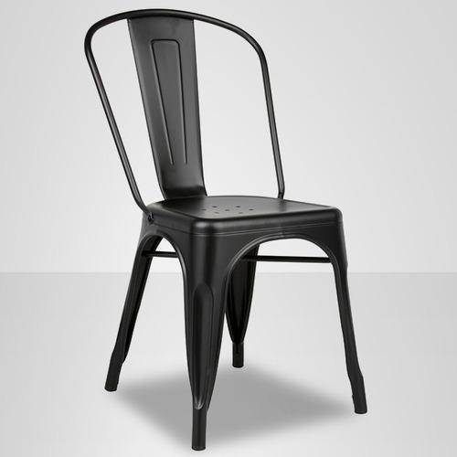silla tolix color negro, comedor, evento, casino, restaurant