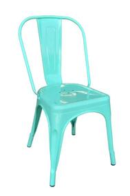 1 Silla Agua Tolix Comedor Uni Color Metálica Verde Living 9WE2IDH