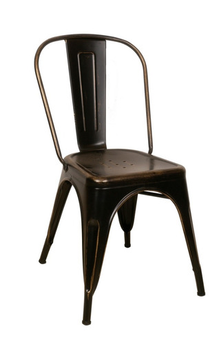 silla tolix comedor living metalica diseño blanco negro