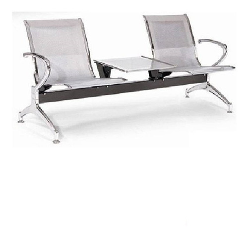 silla torino tandem 2 puestos+mesa oficina espera pcnolimit