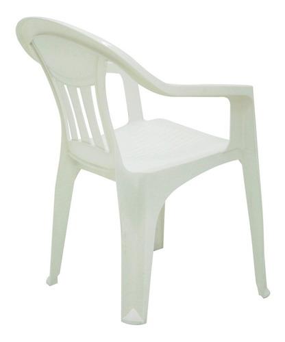 silla tramontina de jardín con posabrazos soporta 154kg loi