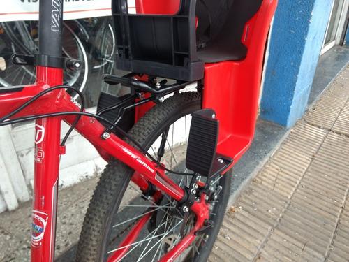 silla trasera bicicleta niños porta equipaje freno a disco
