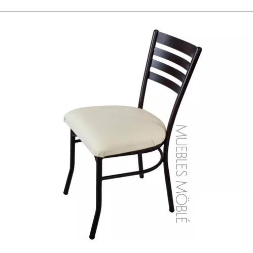 silla tubular mesa de madera para restaurantes y cafeterías.