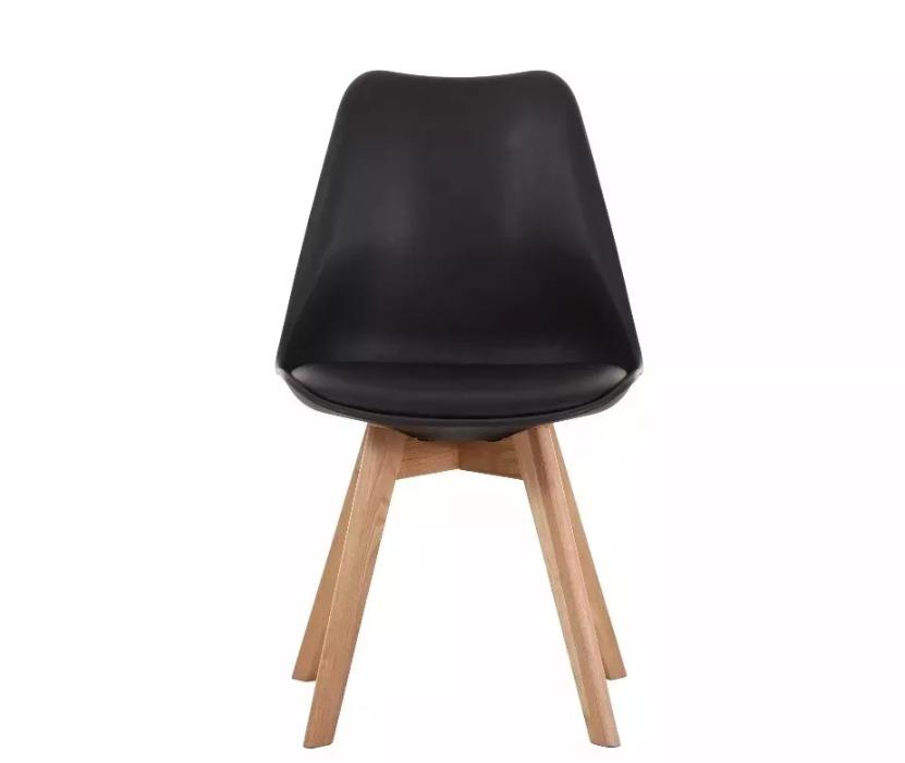 Silla Tulip Negra Diseño Comedor Con Almohadon - $ 1.495,00 en ...