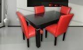 silla vestida tapizada en ecocuero - juego de living