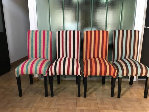silla vestida tapizado chenille reforzada