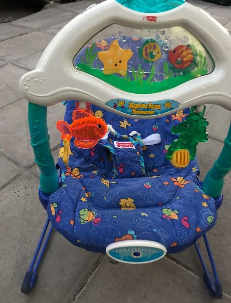 61cdd52ee silla vibradora fisher price con luz,musica, funciona todo. Cargando zoom.