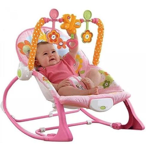 silla vibradora mecedora crece conmigo ibaby rosada mariposa
