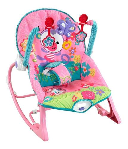 silla vibradora mecedora crece conmigo ibaby verde rosado
