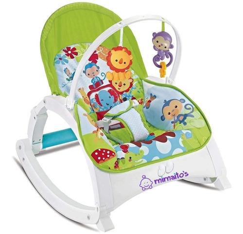 silla vibradora plegable bebe 3 posiciones sonajero