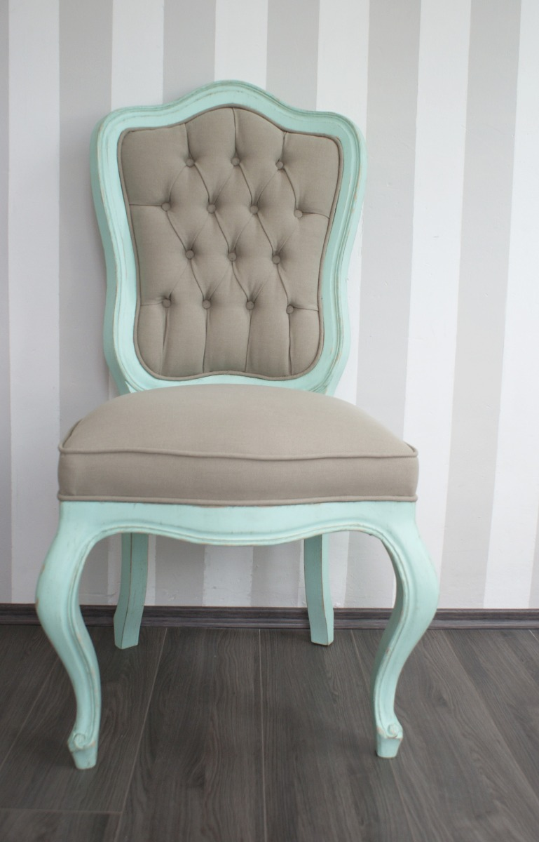 silla vintage menta shabby chic capitonado silla luis xv 3 en mercado libre. Black Bedroom Furniture Sets. Home Design Ideas