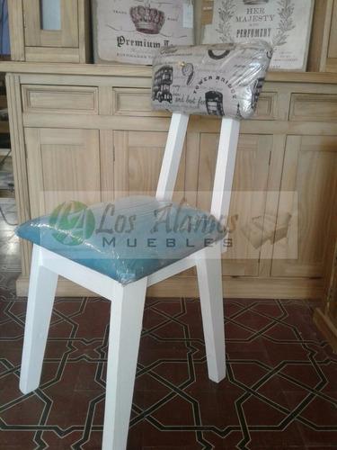 silla vintage retro patinado y tapizado los alamos muebles