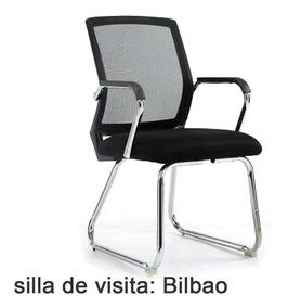 Sillas De Oficina Bilbao.Silla Visita Bilbao Con Brazo Comedor Escritorio Mesa