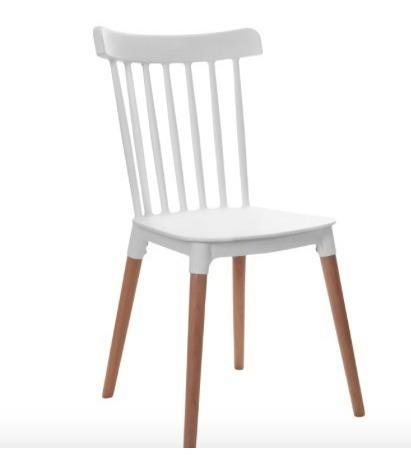 silla windsor pack 3 unid sillas plastico y madera