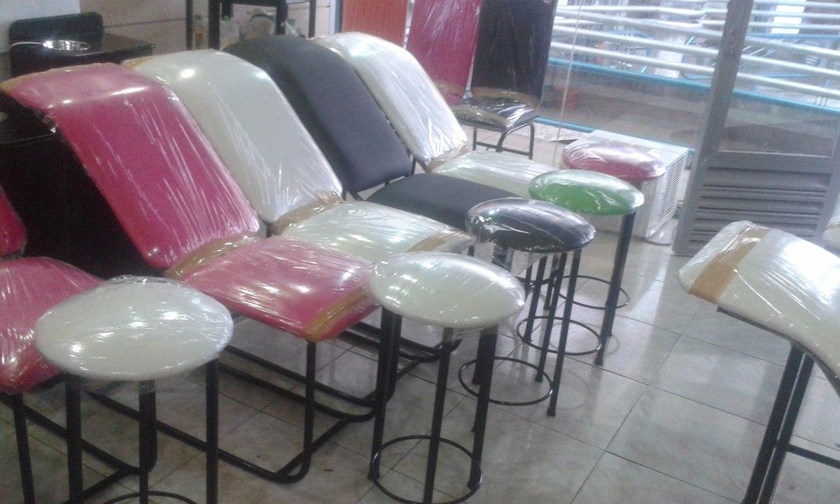 Silla y banco para depilacion cejas maquillajes facial for Sillas para facial
