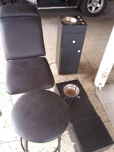silla y mueble para cejas maquillaje, depilacion, pestañas,