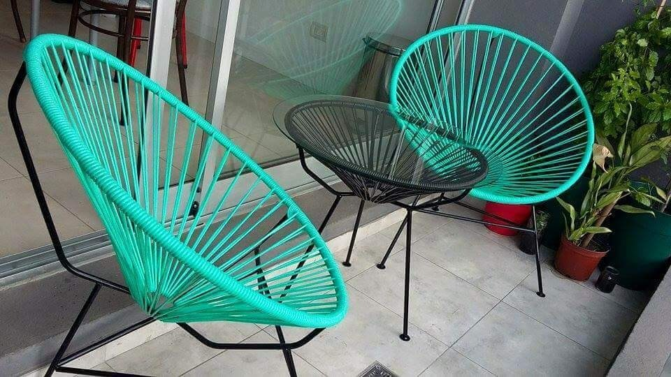 Sillas acapulco juego de 3 piezas 2 en mercado for Sillas para planos