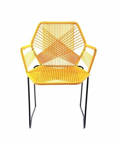 Sillas acapulco vinilos flexibles silla tejida hexagonal 1 en mercado libre - Tejidos para tapizar sillas ...