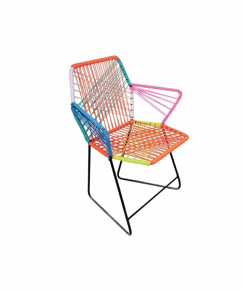 Sillas acapulco vinilos flexibles silla tejida for Modelos de sillas de metal