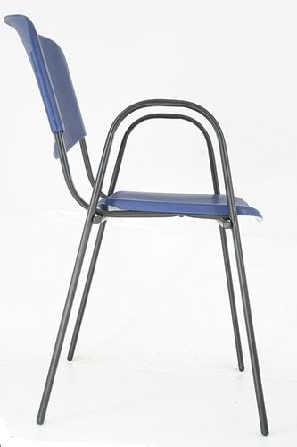 sillas ads, silla iso plastic con brazos 3 colores a escoger