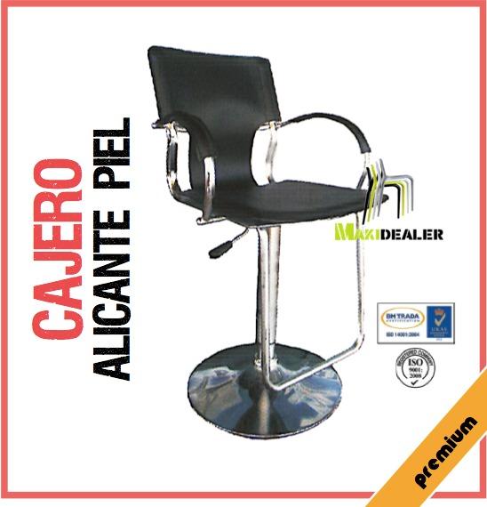 Sillas Alicante Cajero Piel Ergonomica Mobiliario Oficina - Bs ...