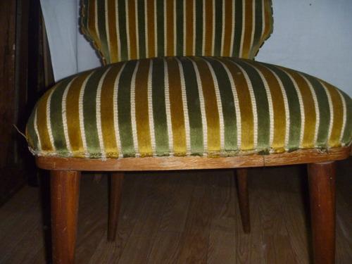 sillas antiguas de pana