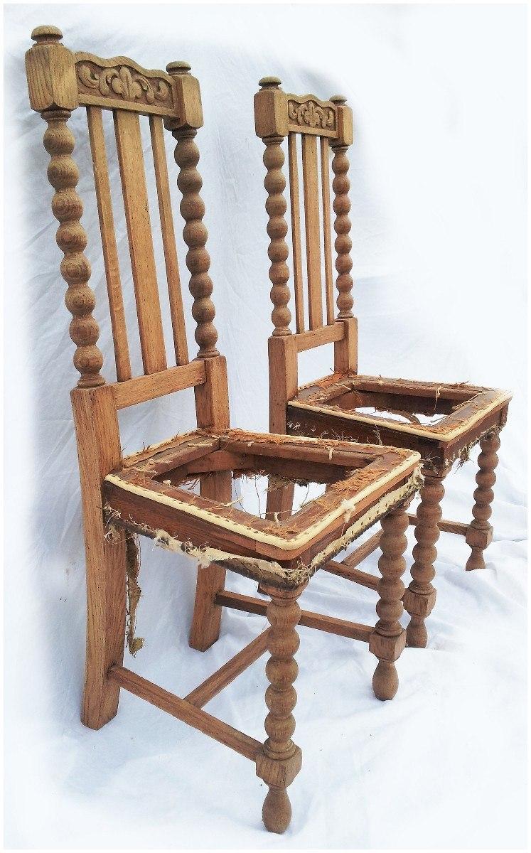 Tapizado de sillas antiguas awesome sillas antiguas de madera maciza y asiento tapizado azul - Sillas de madera antiguas ...