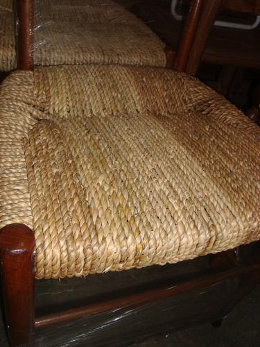 sillas antiguas trenzadas cardo,dormitorio,lustradas,rustica