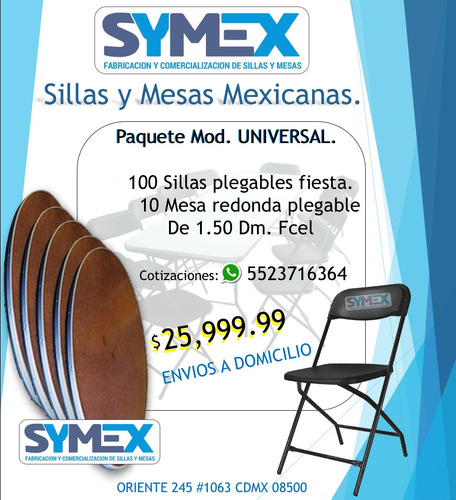 sillas apilable de plastico mesas 80x80 de plástico.