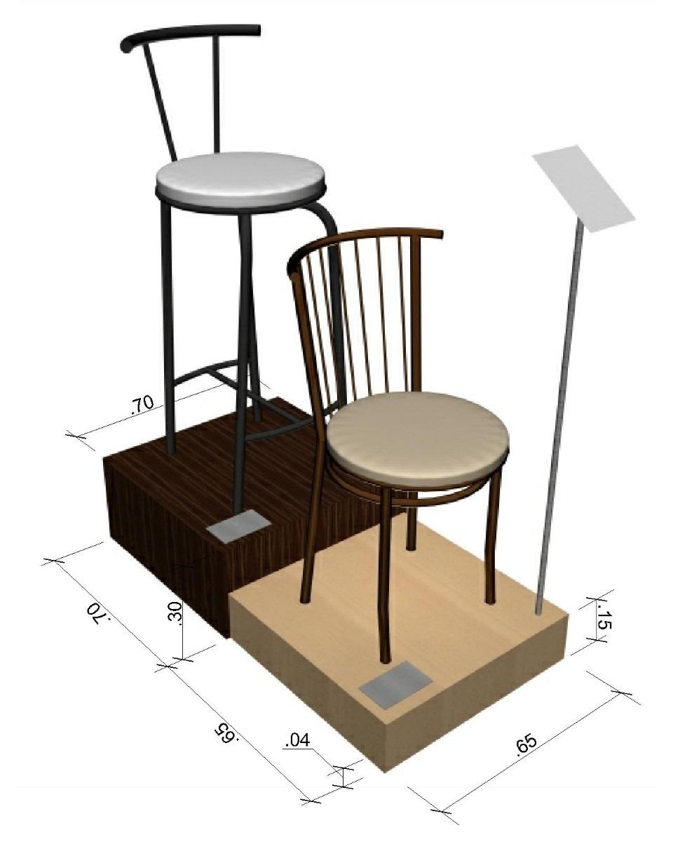 Sillas banco taburete y silla alta en hierro en for Modelos de sillas de hierro
